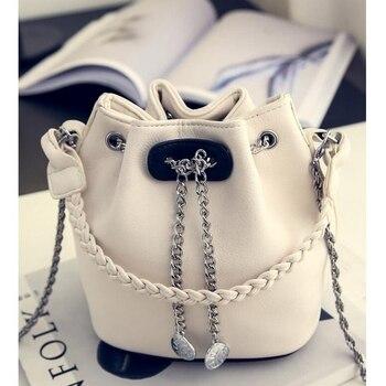 Women's PU Leather Bucket Bag  2
