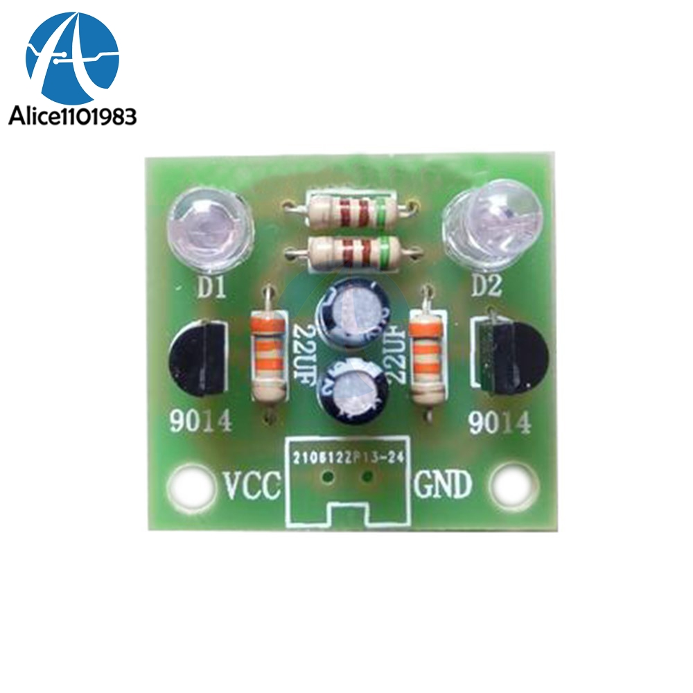5mm Light Led Blue Simple Flash Circuit Diy Kit Module Transistor Programmer Avr Your Usb Diagram Nonstopfree Electronic Number Of Component Names Pcb 1 9014 2 30k Resistance 510 European 22uf Electrolytic Capacitors