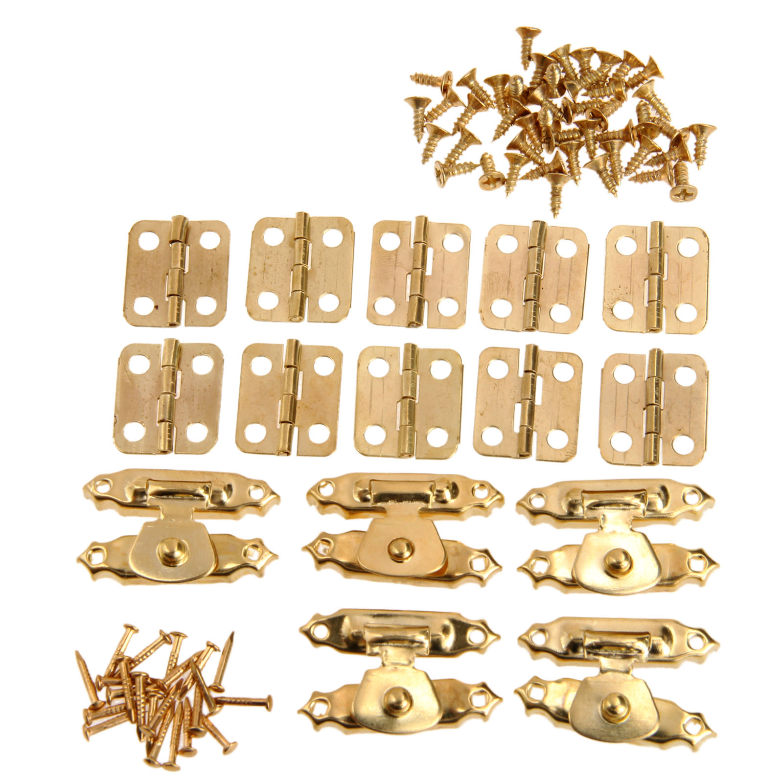 5Pcs Antique Gold Jewelry Wooden Box Case Toggle Hasp Latch +10Pcs Cabinet Hinges  Iron Vintage Hardware Furniture Accessories5Pcs Antique Gold Jewelry Wooden Box Case Toggle Hasp Latch +10Pcs Cabinet Hinges  Iron Vintage Hardware Furniture Accessories