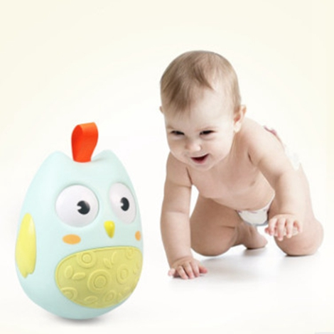0-12 Months large tumbler Baby Toy Baby Ball Toy Rattles Develop Baby Intelligence Baby Toys Plastic Hand Bell Rattle