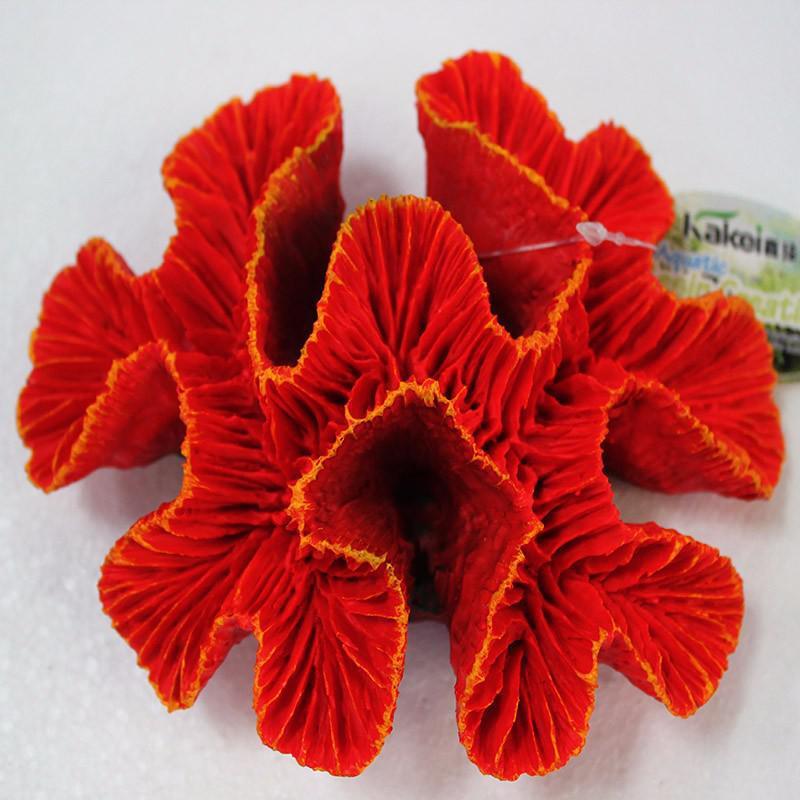 New Fashion Resin Artificial Aquarium Red Coral Reef Decoration Fish Tank Sea Marine Coral Ornament
