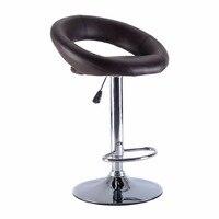 1 PC PU Leather Adjustable Swivel Bar Stool Hydraulic Chair Barstools 3 Color HW51715