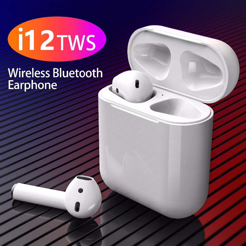 i12 TWS1:1 Pop-Window Wireless Stereo Bluetooth Earphone Touch Sports Headset With Microphone For Smart Phones Pk i7s i10 i13tws