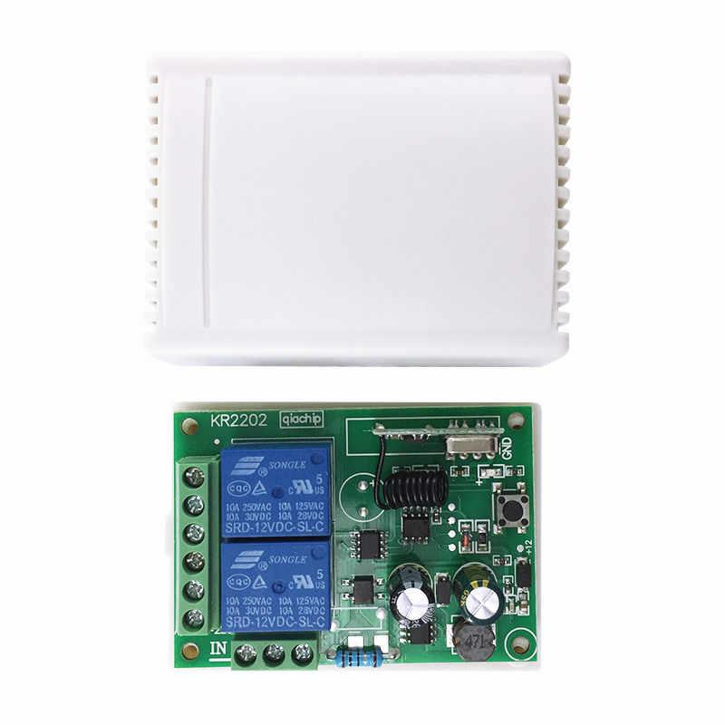433 Mhz العالمي لاسلكي للتحكم عن بعد التبديل التيار المتناوب 85 فولت ~ 250 فولت 110 فولت 220 فولت 2CH التتابع وحدة الاستقبال و RF 433 Mhz التحكم عن بعد