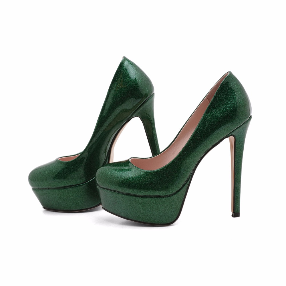Arden Furtado 2018 new spring autumn new fashion style shoes woman  stilettos high heels 14cm slip on pumps green red nude pumps-in Women s  Pumps from Shoes ... 4a79d6545808