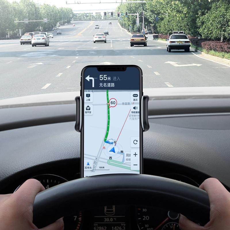 Car Phone Holder Dashboard Mount Clip Mount Adjustable Phone Stand Bracket GPS for iPhone Samsung Xiaomi Huawei Universal Holder