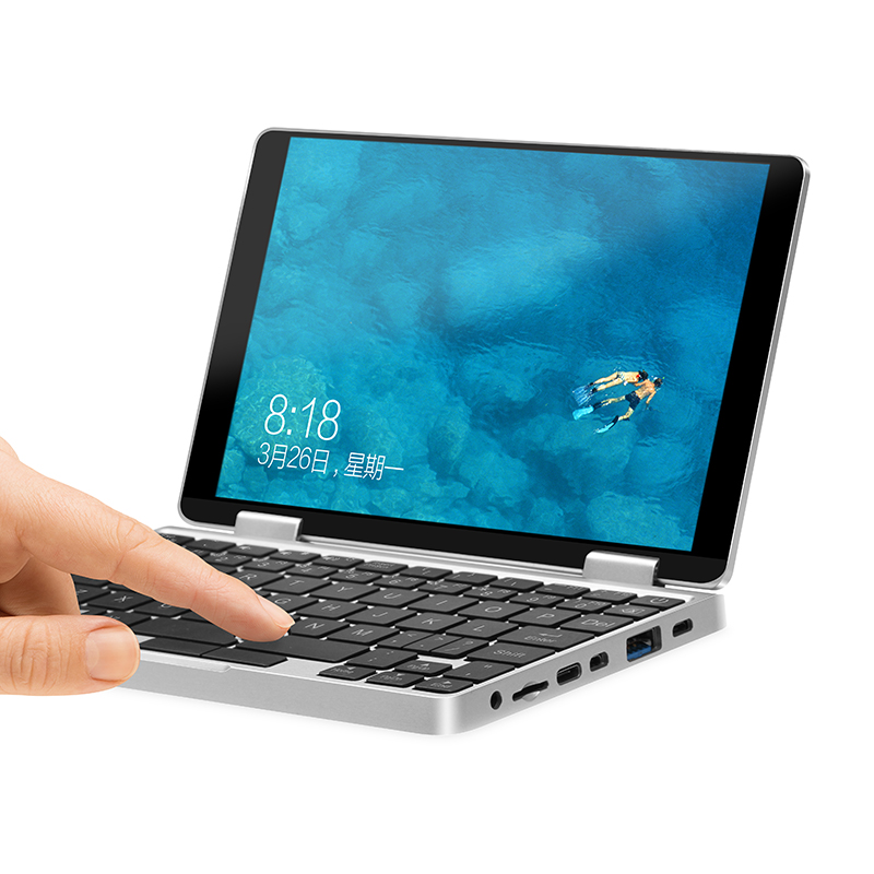 """7"""" IPS TouchScreen Laptop With Bluetooth Fingerprint One-netbook One Mix1S Intel Celeron 3965Y 8G 256G Plus 360rotate Tablet PC"""