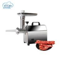 ITOP Главная электрическая мясорубка Многофункциональный мясорубки измельчитель овощей колбаса наполнителя Нержавеющаясталь Мясорубка ч