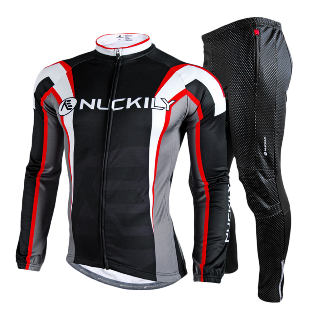 Big Discount Long Sleeved Bicycle Cycling Jersey Sets Pants Mountain Bike Riding Clothes Suit Stand collar For Outdoor Riding ai speed europe outdoor riding mountain bike cycling clothes ultra thin breathable split poncho raincoat portable