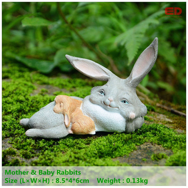 Everyday collection easter decoration mothers day gifts miniature everyday collection easter decoration mothers day gifts miniature fairy garden and terrarium statue rabbits bunny gifts negle Images