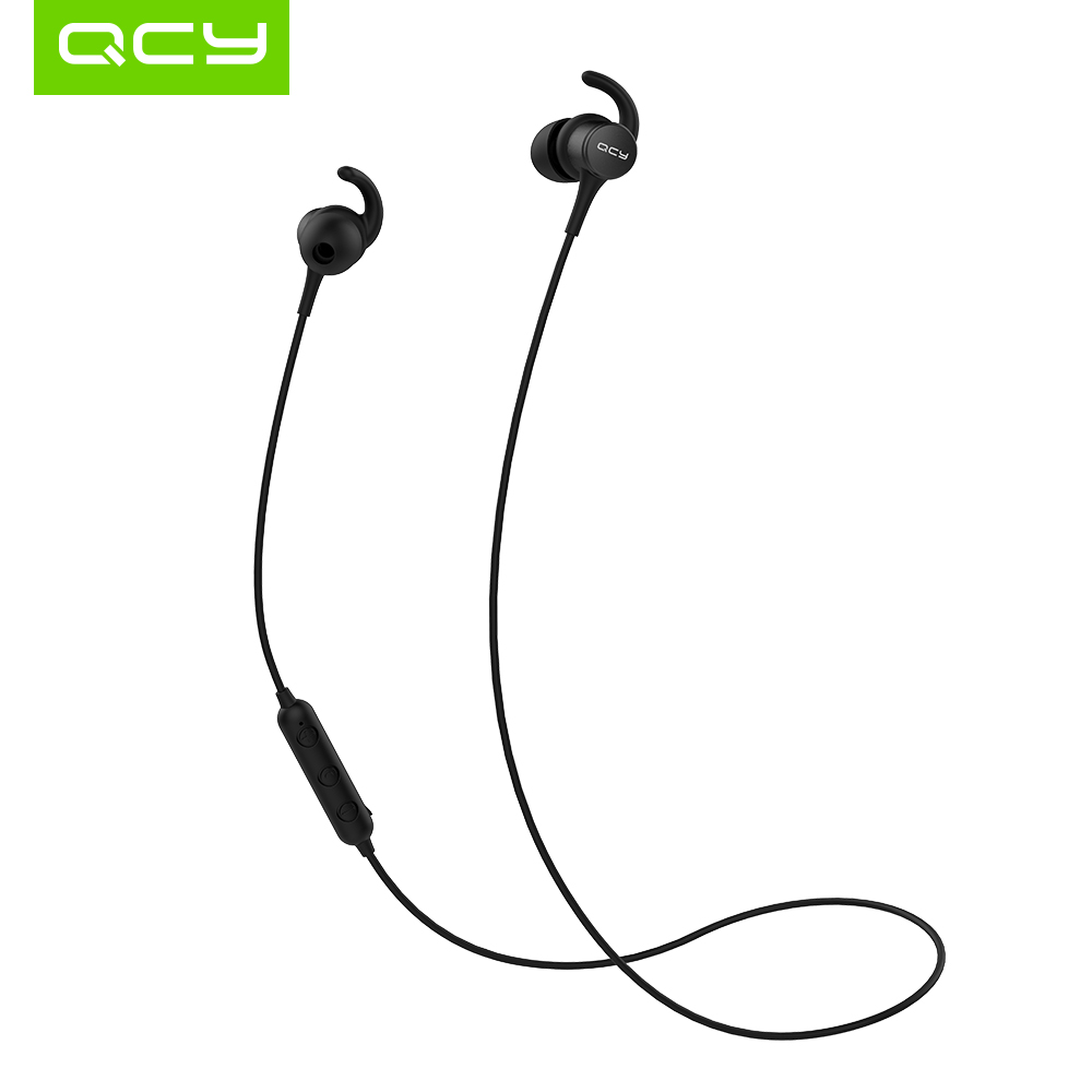 QCY M1s IPX5-Rated Sweatproof Earphone Bluetooth 4.2 Wireless Sports Running Earphones Smart Magnet Headset with Microphone siroflo x18 magnet metal sports bluetooth earphone