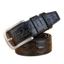 Натуральной воловьей Ремни для Для мужчин ремешок Роскошные Брендовая Дизайнерская обувь Булавки Пряжка Настоящая кожа мужской хип ремень бренд цена оптовой продажи