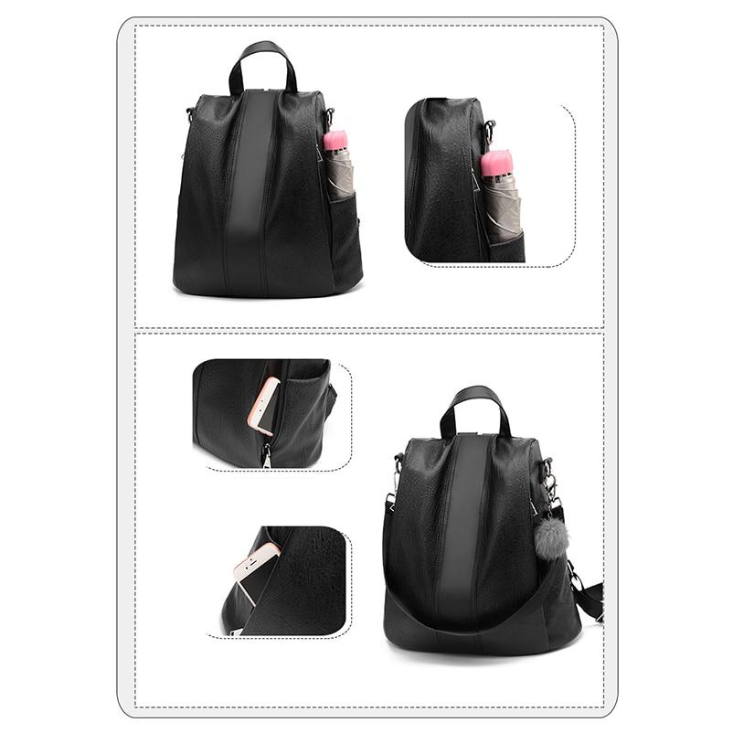 Nevenka 2018 Women Backpacks Fashion Leather Satchel Bags Sac Zipper Bags Casual Shoulder Bags Mochila16