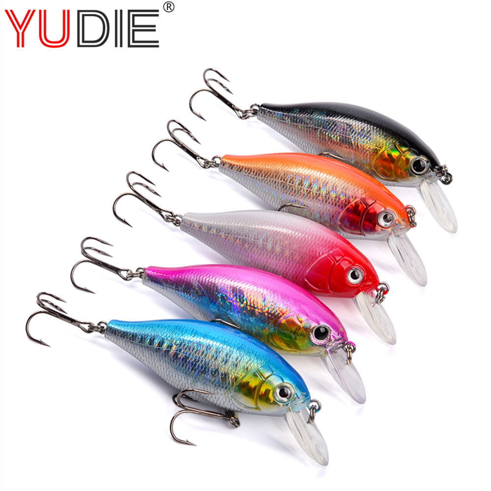 1Pcs 7cm 13g High Quality Beginner Minnow Lure Hard Plastic Baits For Crap Fishing Tackle Wobblers Crankbait Sport Tool 5 Colors 30pcs set fishing lure kit hard spoon metal frog minnow jig head fishing artificial baits tackle accessories