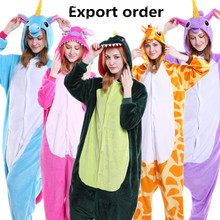 L G Wholesale Animal Stitch Unicorn Pig Bear Koala Pikachu Onesie Adult Unisex Cosplay Costume Pajamas Sleepwear For Men Women