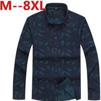 10XL 8XL 6XL 5XL 2017 Spring Autumn Features Shirts Men Casual Jeans Shirt New Arrival Long