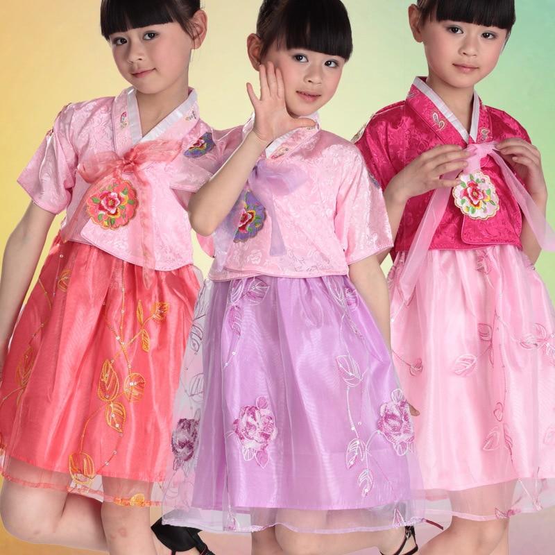 Tienda Online Multicolor Niñas corto coreano hanbok vestido asiático ...