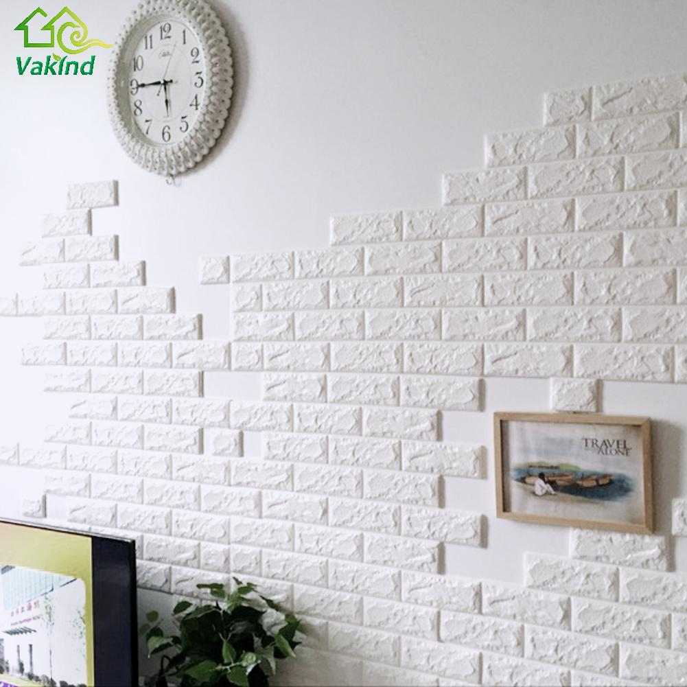 3d Wall Stickers Diy Wall Decor Pe Foam Brick Sticker For Kids Bedroom Living Room Decorative