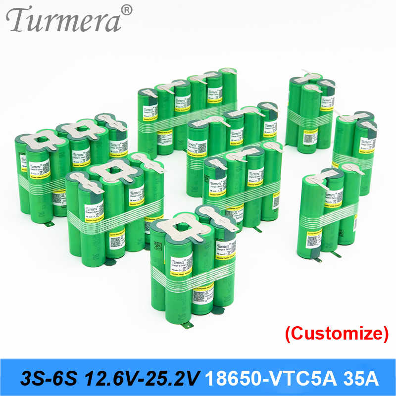 3S 12.6V 4S 16.8V 5S 21V Battery Pack US18650VTC5A 2600mah 35A Discharge Current for shura screwdriver battery (customize)