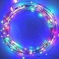 100 Led Luces de Hadas de 10 m Línea de Luces Led String Lights Starry Bzone USB Operado Patio Luces de la Secuencia Para El Hogar decoración