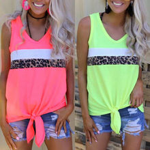 Hot Women Summer Leopard Vest Top Sleeveless Shirt Casual Loose Tank Tops Camisole V-Neck