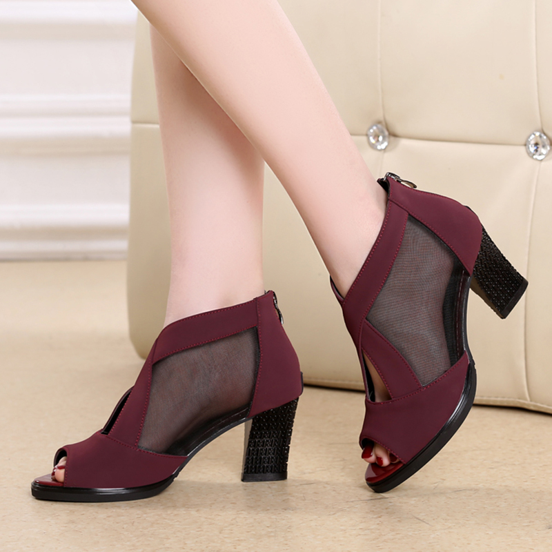5362 Hot Selling Heel 7cm Red Outdoor Square Latin Dance Shoes Zapatos De Baile Latino Mujer Latin Ballroom Dancing Shoes Women