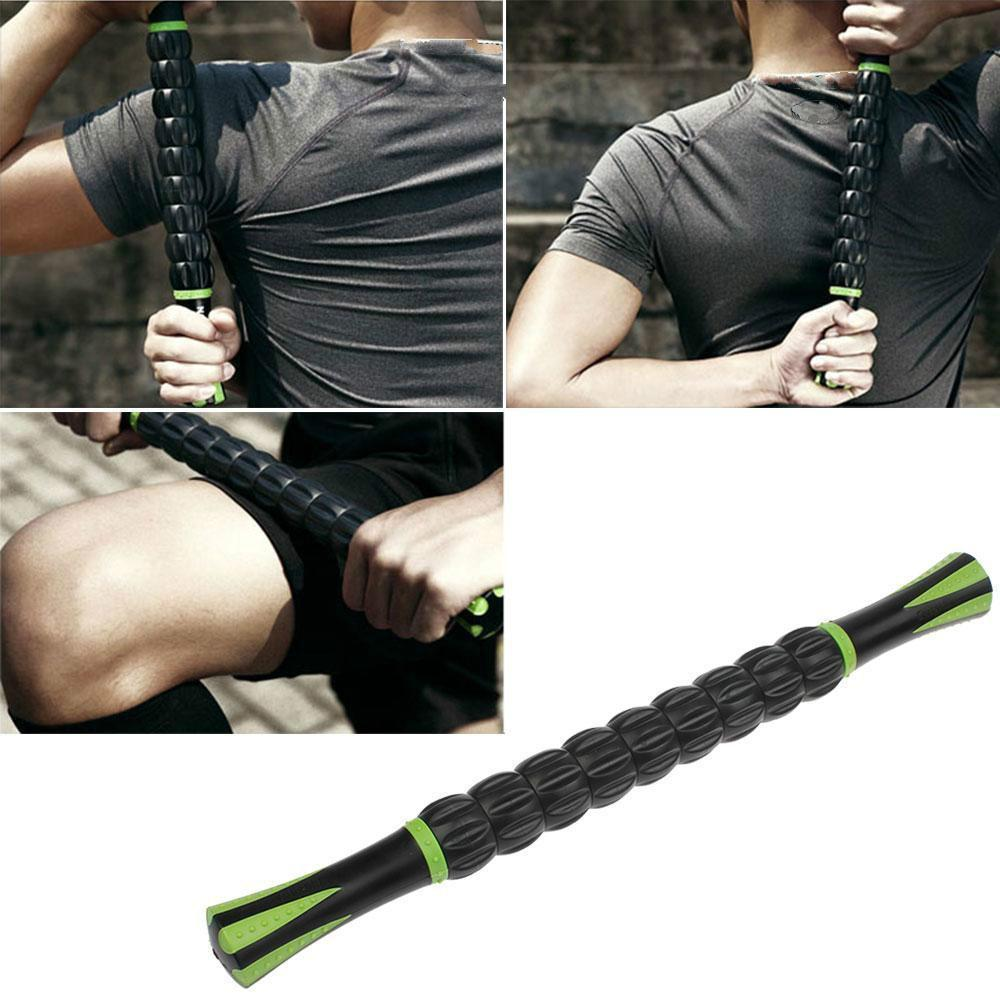 New Trigger Point Full Body Muscle Rear Shoulder Roller 18inches Massage Stick For Black Relaxion Accessories massager ergonomic design body self back hook massage stick muscle deep pressure original point body relaxation hot new