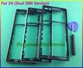100% оригинал новый ближний шатона рамки шрифта панели крышку корпуса чехол + боковая кнопка + стороны вилка + инструмент для Sony Xperia Z4 ( Dual SIM )