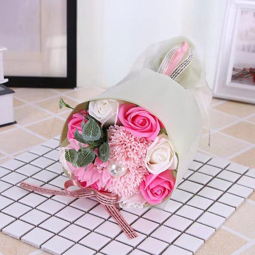 Nouveau bouquet simulé savon roses savon festival activités mariage saint valentin cadeaux créatifs décorations pour la maison LINTINGHAN - 3