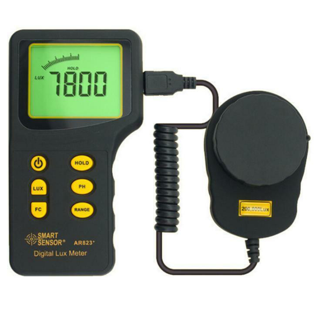 Digital Lux Meter Luxmeter Measuring Range 1~200.000 lux Light Illuminometer Photometer Lux/FCDigital Lux Meter Luxmeter Measuring Range 1~200.000 lux Light Illuminometer Photometer Lux/FC
