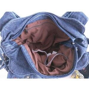 Image 5 - iPinee Brand Women Bag 2020 Fashion Denim Handbags Female Jeans Shoulder Bags Weave Design Women Tote Bag