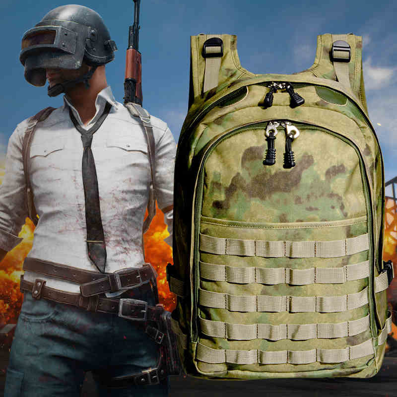 Playerunknown's Battlegrounds PUBG Winner Chicken Dinner Level 3 Backpack Multi-functional Tactical Cosplay Backpack Bags Props