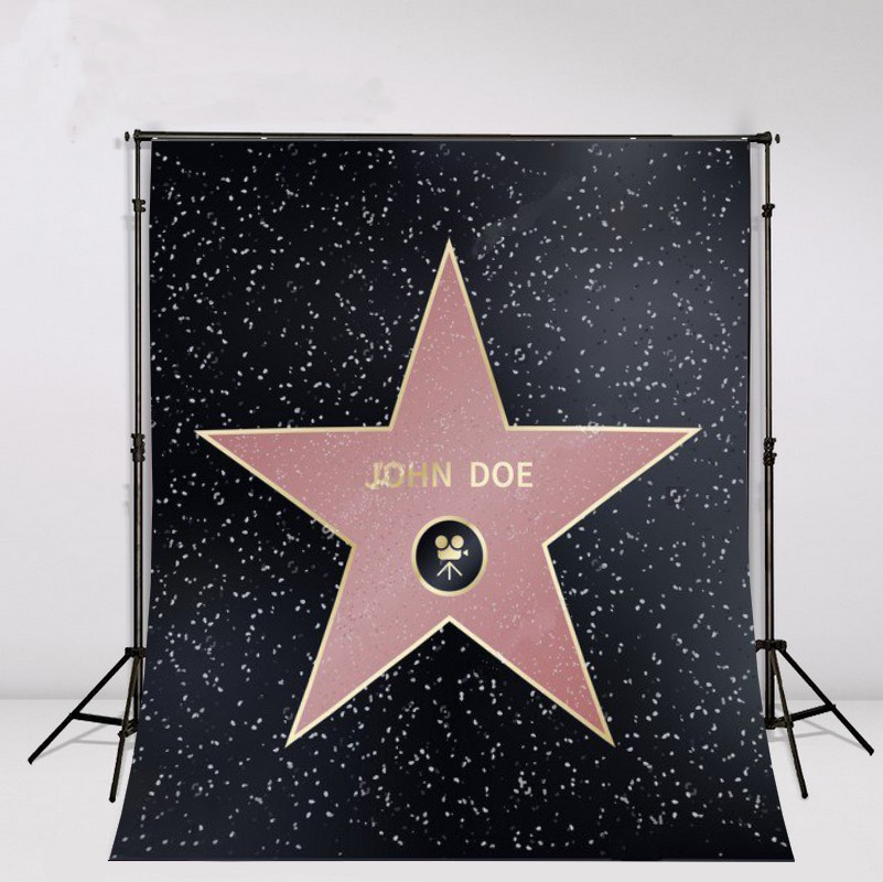 custom  DIV Hollywood Walk Of Fame Famous Producer Actor Star photo backdrop Vinyl cloth Computer print birthday Backgrounds полусапожки echo of hollywood