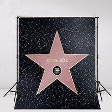 Personalizado Produtor Famoso Ator de Hollywood Walk Of Fame DIV Star foto cenário Vinil Fundos Computador pano de aniversário de impressão