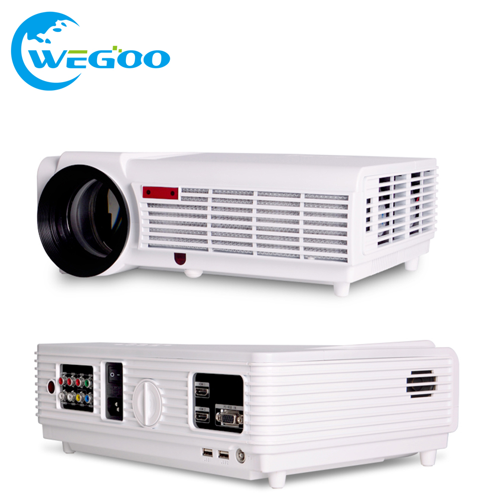 Led 96 portable mini projector 3000 lumens home theater for Portable video projector