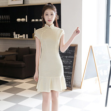 Women sale cheongsam Slim wedding Married dress Party Fishtail skirt Evening Pencil Cocktail chinese traditional qipao TRJ0515