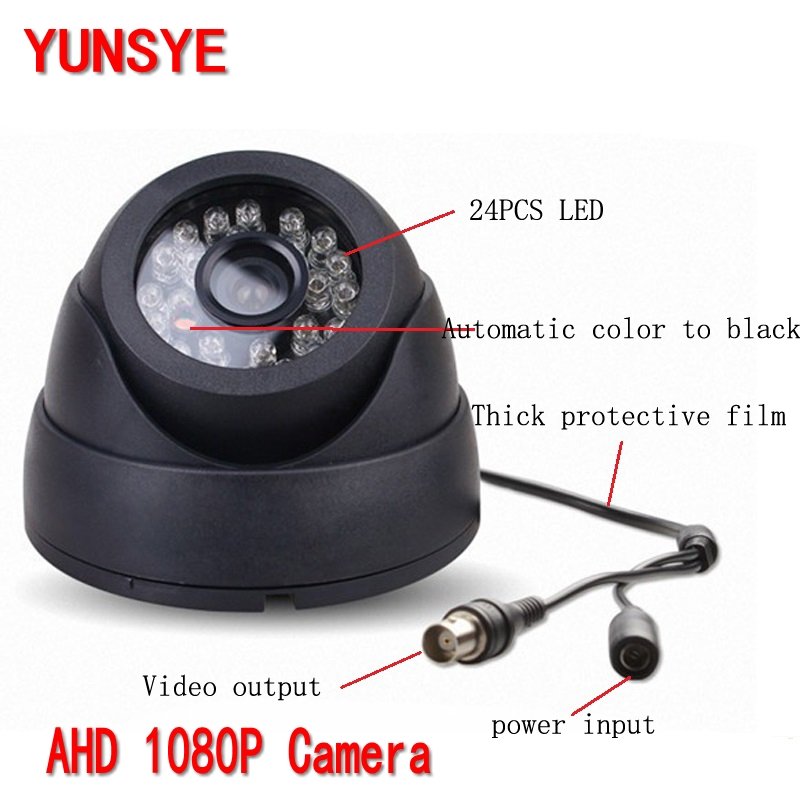 YUNSYE 1920 x 1080P 2.0MP CCTV AHD Camera Sony IMX322 Outdoor 2 Array LED IR Dome Camera Night Vision Security Cam w/ IR-Cut 4 in 1 ir high speed dome camera ahd tvi cvi cvbs 1080p output ir night vision 150m ptz dome camera with wiper