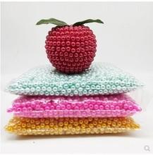 6mm in diameter high brightness ABS imitation pearl for foam bear decorative accessories colorflu beads DIY handmade materials