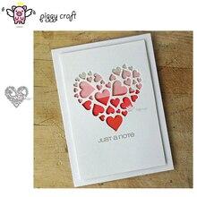 Piggy Craft metal cutting dies cut die mold Heart love decoration Scrapbook paper craft knife mould blade punch stencils dies