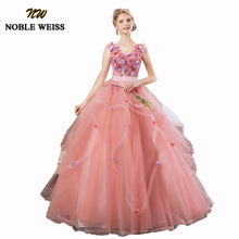 5b910e1bc NOBLE WEISS bola Rosa Vestidos de quinceañera 2018 flores encantadoras Vestidos  de 15 anos bola Vestidos