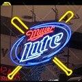 Neon Zeichen Miller Lite Baseball zimmer Wand Werbung Zeichen Neon Bar Zeichen Neon lampen Personalisierte Nacht neon lichter für verkauf