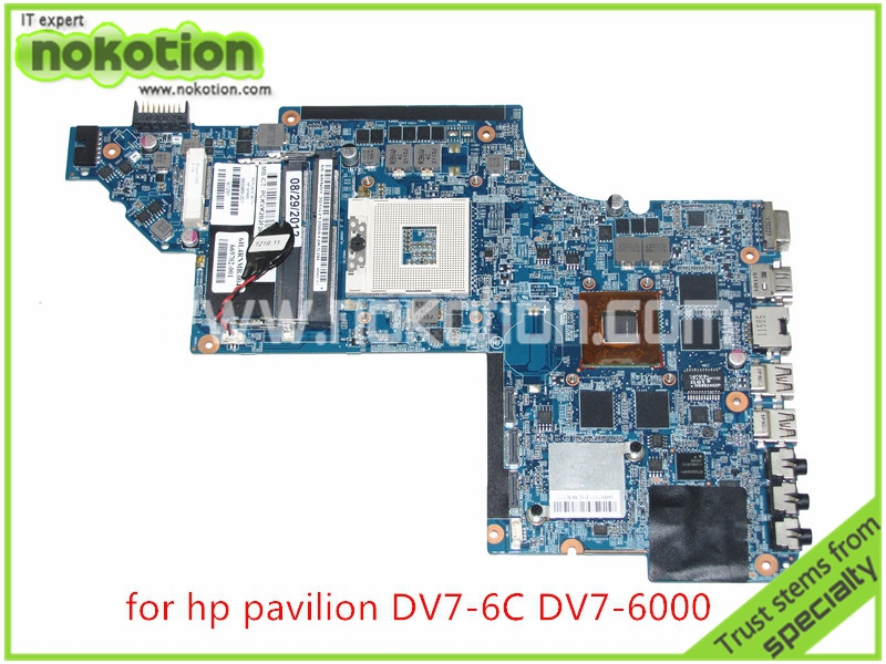 NOKOTION PN 665989-001 For HP pavilion DV7 DV7-6000 Series laptop motherboard ATI HD 6770M Graphics HM65 DDR3 659095 001 laptop motherboard for hp dv7 6000 intel hm65 ddr3 ati hd 6770m graphics mainboard full tested