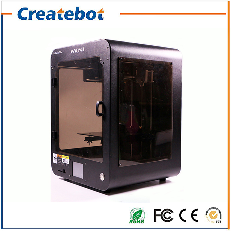 Cheap 3D Printers FDM Desktop Createbot mini 3d Printer kit Full Metal Frame Dual Extruder Touch Screen Hotbed Black Color createbot black full metal fdm 3d modeling printer