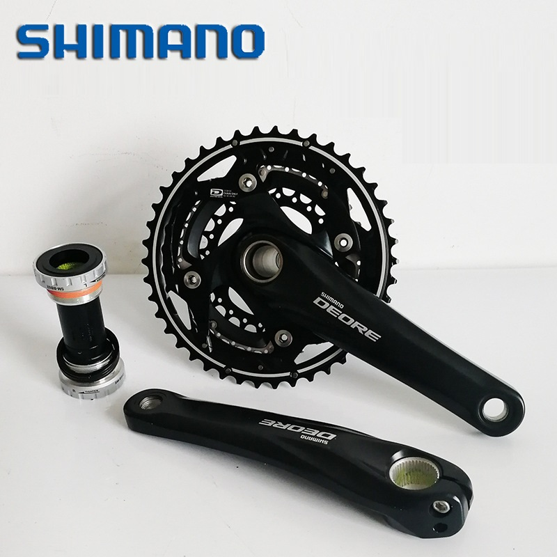 SHIMANO DEORE FC M610 Crankset Crank 170mm 175mm 42T 32T 24T Teeth Chainring With Bottom Bracket