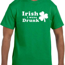 883dc980 PADEGAO St Patricks Day Irish i were Drunk T Shirt Cotton Short Sleeve T- shirt