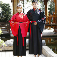 Chinese style Hanfu embroidery costumes men and women daily spring and autumn students stage performance photo set