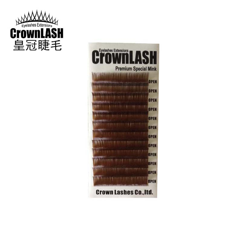 Volume Lash Extension Brown B C D 0 07 8 13mm Single Size Tray