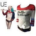 HOT TOP Nuevo Estilo Rasgado Inspirado Camisa Harley Quinn de Papá Lil Monster Comando Suicida