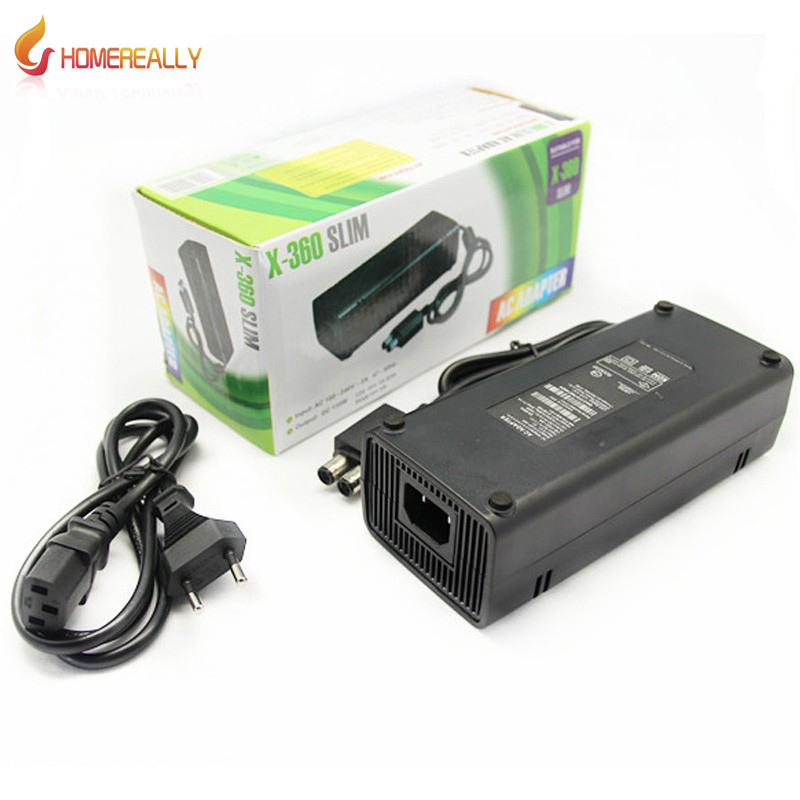 HOMEREALLY EU US Plug AC Adapter 220V Charge Charging Power Supply Cord cable For Microsoft XBox