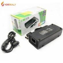 ЕС/США Plug Адаптер ПЕРЕМЕННОГО ТОКА Зарядное Устройство 220 В Зарядки Зарядка Шнур питания кабель для Microsoft XBox 360 x-360 Стройная 135 Вт Питания
